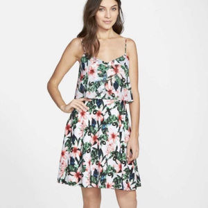 VINCE CAMUTO Floral Tropic Rain Mini Dress
